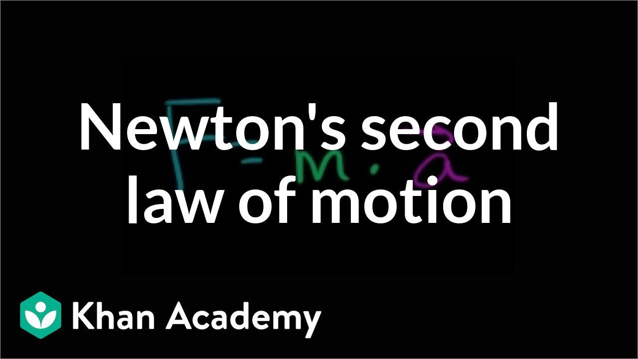 Newton's second law of motion (video) | Khan Academy