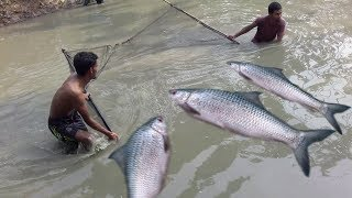 Amazing traditional net fishing , instrument – khora net