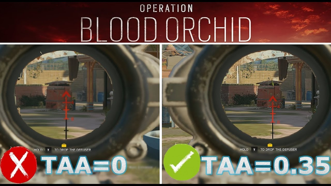 best graphics settings for rainbow six siege