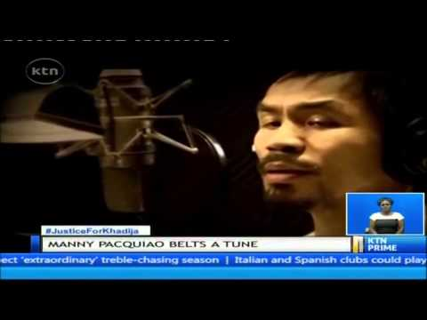 Manny Pacquiao belts a tune for the world