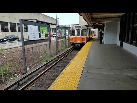 MBTA Forest Hills bound train at Wellington
