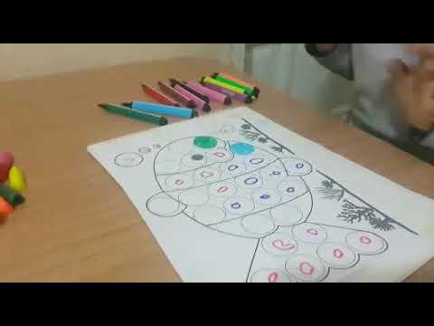 Renkli Keceli Kalemlerle Sinirli Boyama Calismasi 1 Youtube