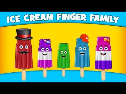 The Finger Family Ice cream Family Nursery Rhyme | Ice cream Finger Family Songs