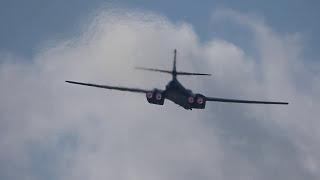 B-1B Lancer fly over Ostrava Airport NATO DAYS 2017