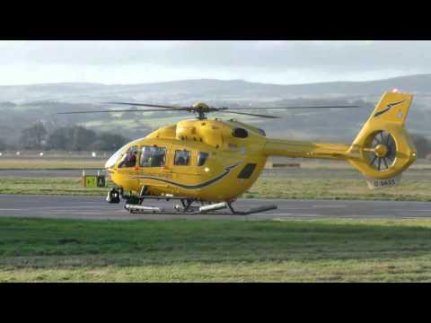 G-SASS Bond Helicopter - Glasgow Airport (4K)