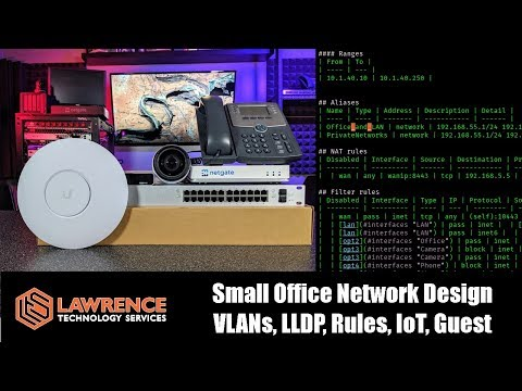 Office Network Design and Planning with VLANs, LLDP, Rules, IoT, Guest using UniFi & pfsense