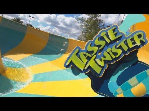 Tassie Twister Both Tube Slides (HD POVS) Aquatica Sea Worlds Water Park Orlando