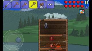 Прохождение игры Terraria на Андроид! Серия 4--- 2 босса и 2 неудачи