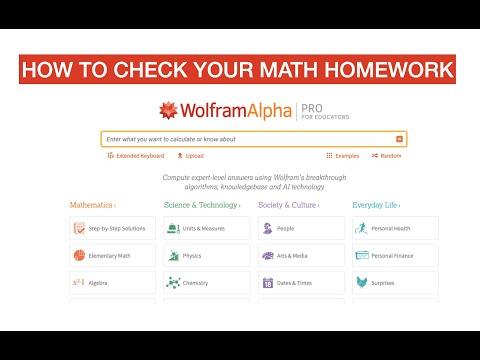 Checking Math Homework With Wolfram Alpha