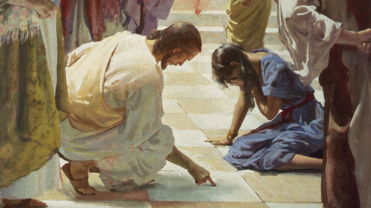 Jesus and the Woman Taken in Adultery - YouTube