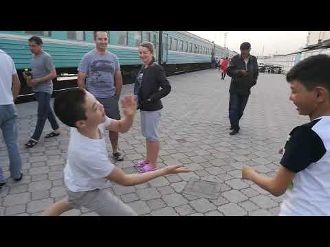 Trans-Kazakhstan railroad trip pit stop in Turkestan - 2017
