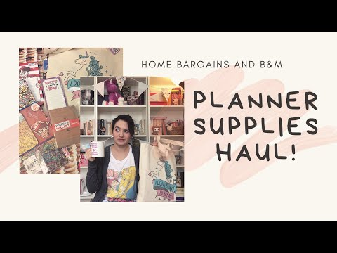 Home Bargains and B&M Haul - March 2017