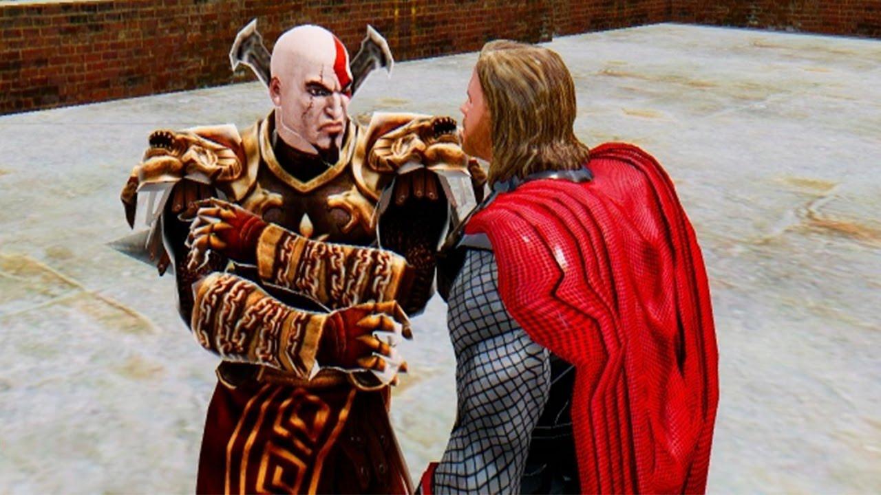 God Of War Kratos Vs Thor