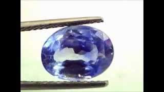 5.51 ct IGI Certified Unheated Untreated Kashmir Origin Jammu mines Blue Sapphire