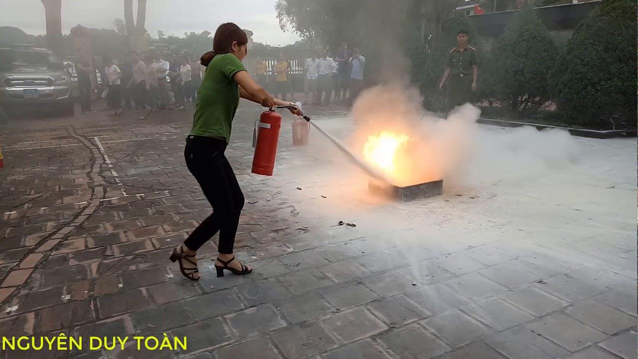 cách sử dụng bình cứu hỏa || tập huấn phòng cháy chữa cháy