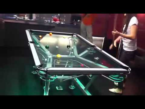 glass pool table is beyond awesome