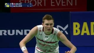 Viktor AXELSON DEN vs Mark CALJOUW NED   European Championships 2017