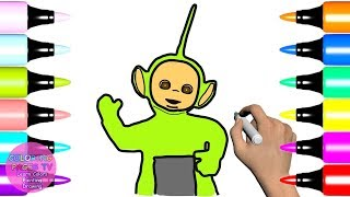 Teletubbies Dipsy How To Draw and Coloring Learn Drawing for Kids Step By Step