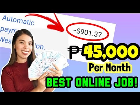 45,000 PESOS PER MONTH: BEST ONLINE JOB | WITH PROOF OF PAYMENT | KUMITA NG PERA ONLINE