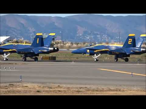 Blue Angels Depart From Oakland Airport October 8, 2018