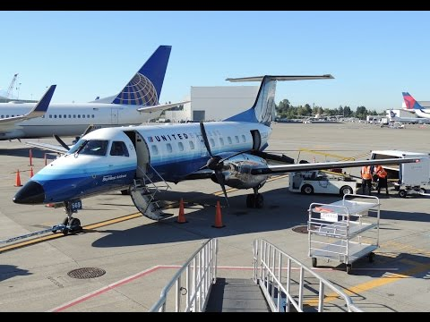 *Full Flight* United Express (SkyWest) Embraer EMB-120 [N569SW] PDX-SEA