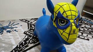 Ayşe Ebrarın Eşşeği Örümcek Adam mı, Batman mi Oldu? Eğlenceli Çocuk Videosu