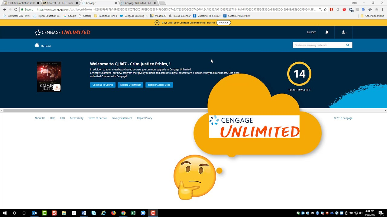 Cengage Unlimited - When you have Inclusive Access but it's still saying
