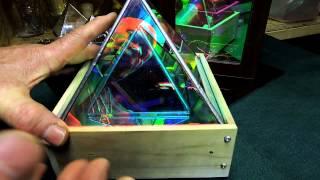 Dichroic Boro Glass Infinity Mirror Effect Pyramids 001