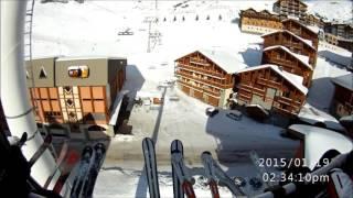 Валь Торанс (Val Thorens), Франция 2015 - вид с подъемника(, 2015-11-11T14:41:53.000Z)