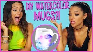 DIY WATERCOLOR MUGS?! | Niki and Gabi DIY or DI Don't