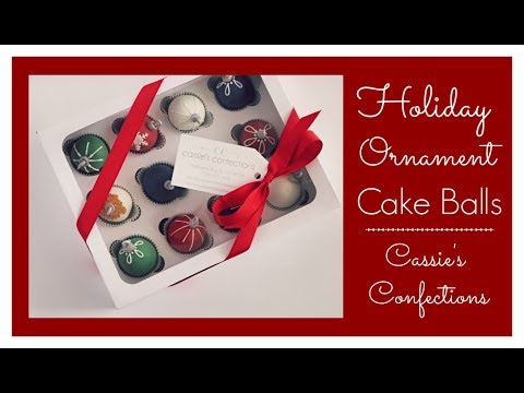 Holiday Ornament Cake Balls!