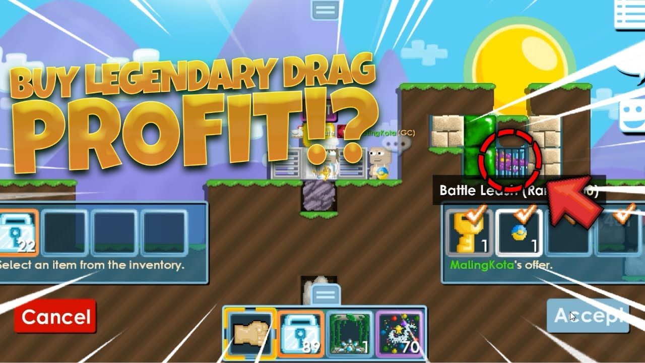GROWTOPIA PROFIT 2DL BUY LEGENDARY DRAGON CAGE 😱