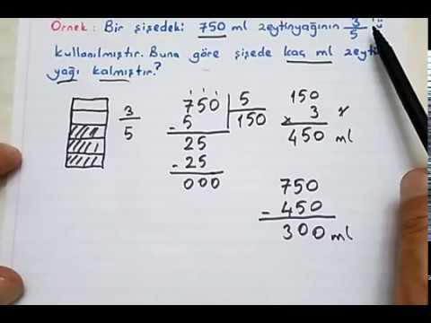 4.sınıf Matematik Kesir Problemleri