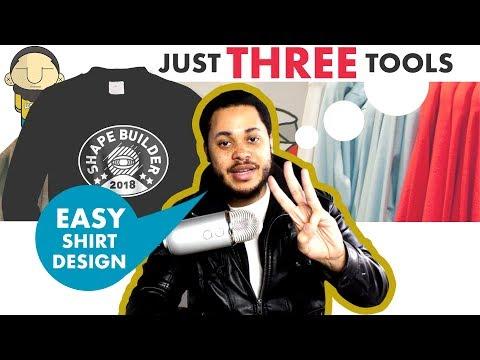 3 BASIC DESIGN TOOLS For EASY & COOL T SHIRT DESIGNS | Adobe Illustrator Tutorial [T Shirt Tuesday]