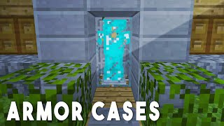 REDSTONE ARMOR CASES - Minecraft Redstone Tutorial
