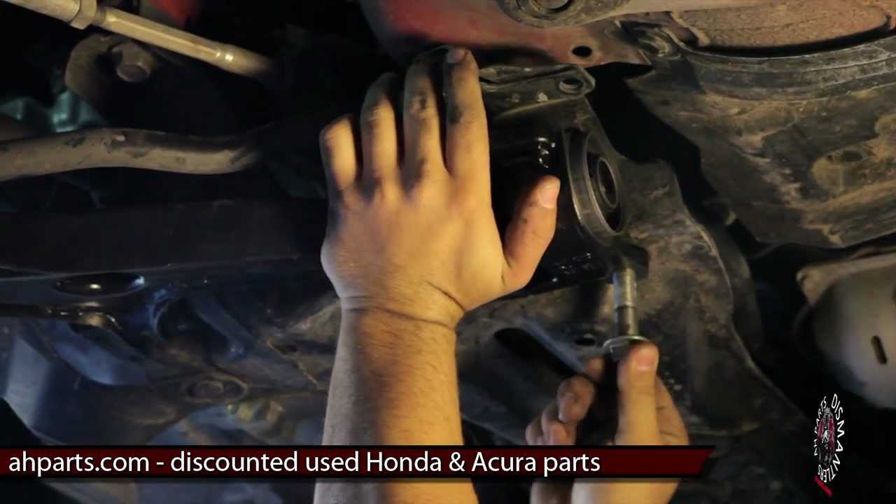 how to change replace install lower control arm diy 2007 2008 honda fit replacement tutorial [ 1280 x 720 Pixel ]