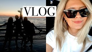 VLOG: shopping for greece (haul) + beach with friends