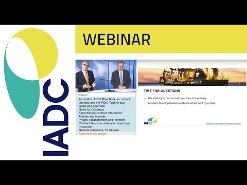 Dredging: Webinar:  Standard Form of Contract for Dredging and Reclamation