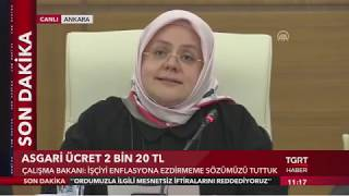 Son Dakİka: Asgari Ücret 2 Bin 20 Lira!