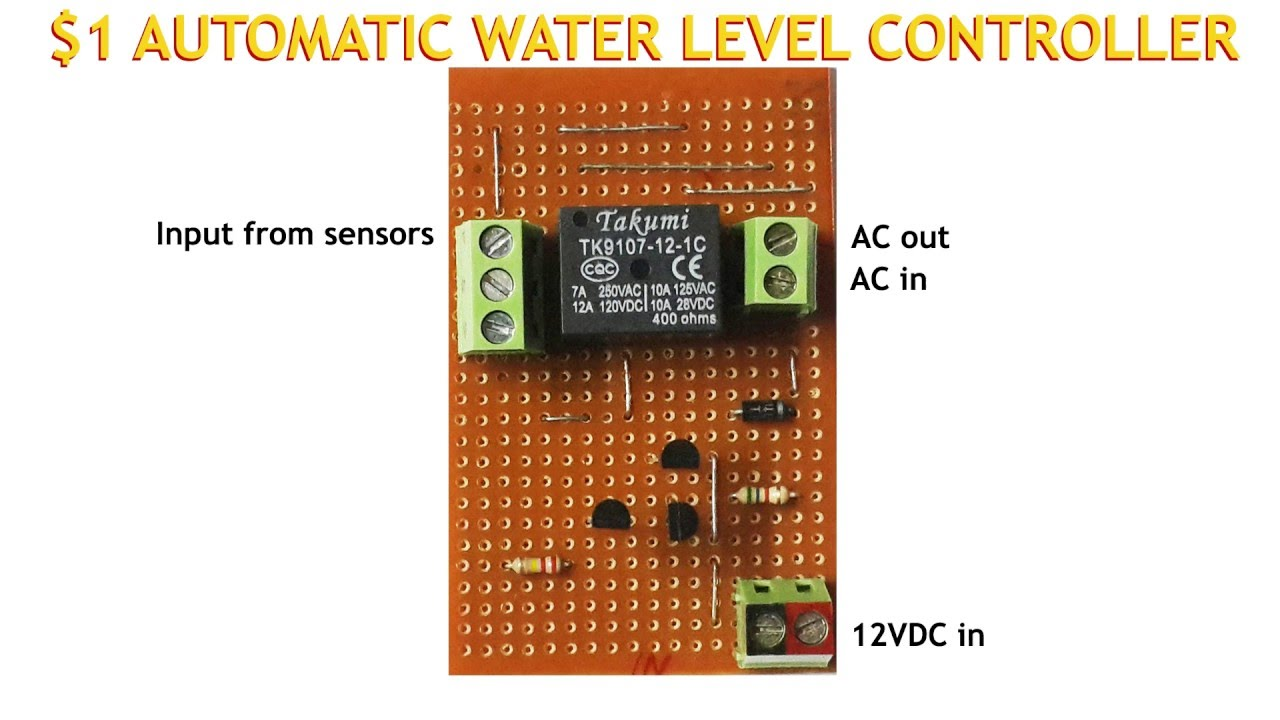 1 Automatic Water Level Controller Youtube
