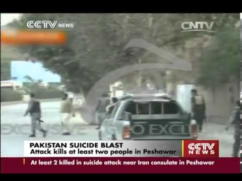 Suicide Blast Outside Iranian Consulate in Peshawar Kills 2 Wounds 12