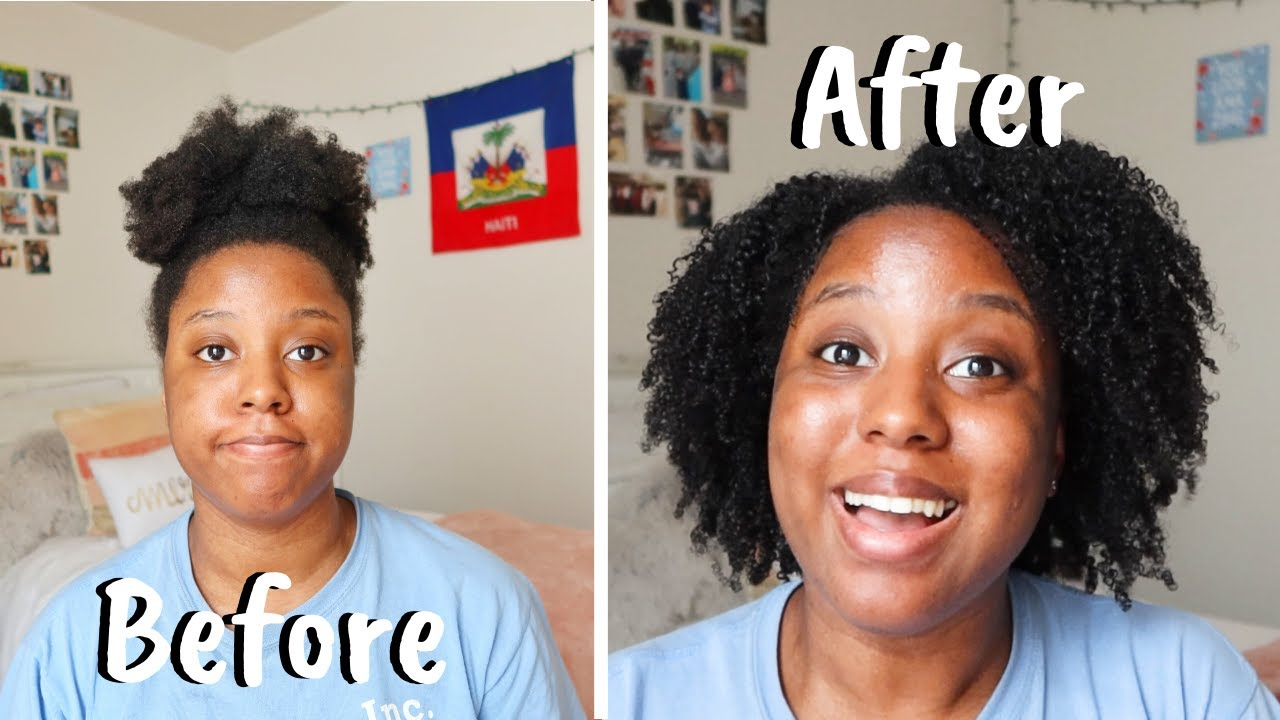 MY FIRST WASH AND GO ON 4B/4C NATURAL HAIR