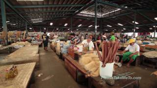 Apia Fresh Produce Markets, Samoa (1080HD) Travel Video