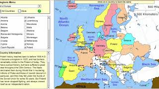 Learn The Countries Of Europe! - Geography Tutorial Game - Learning Level