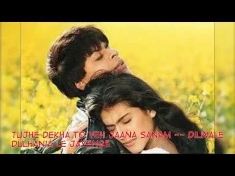 sharukhan-hits-full-songs---tujhe-dekha-to-ye-jana-sanam-with-lyrics-i-dilwale-dulhania-le-jayenge