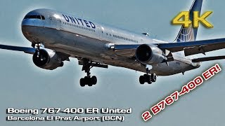 Boeing 767-400 ER United Airlines Barcelona [4K]