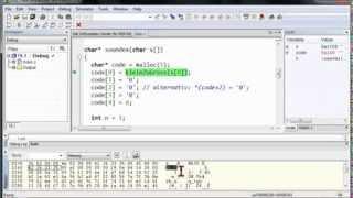 12C.5 Soundex-Algorithmus mit Speicherreservierung und Header-Datei