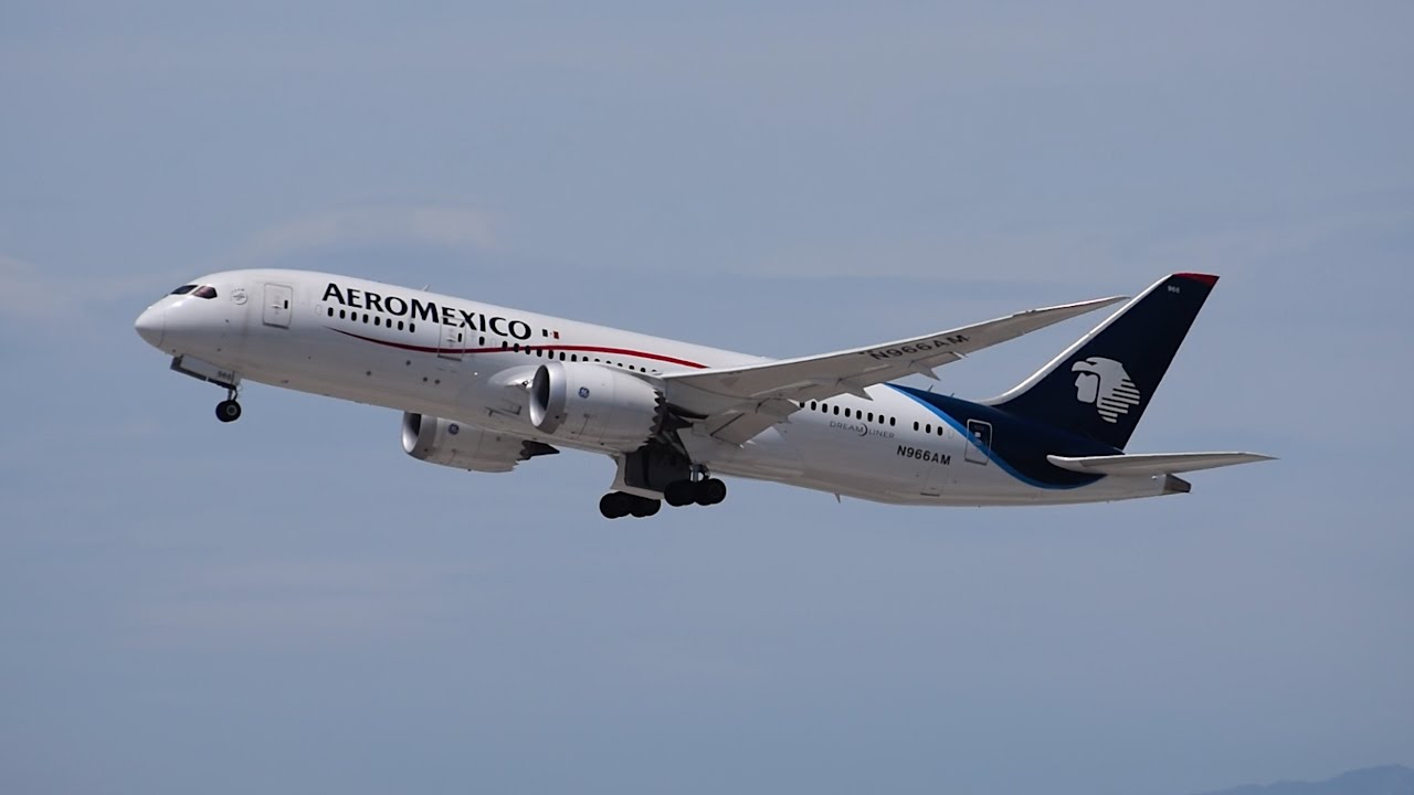 Aeromexico Boeing 7878 N966AM Departing LAX YouTube