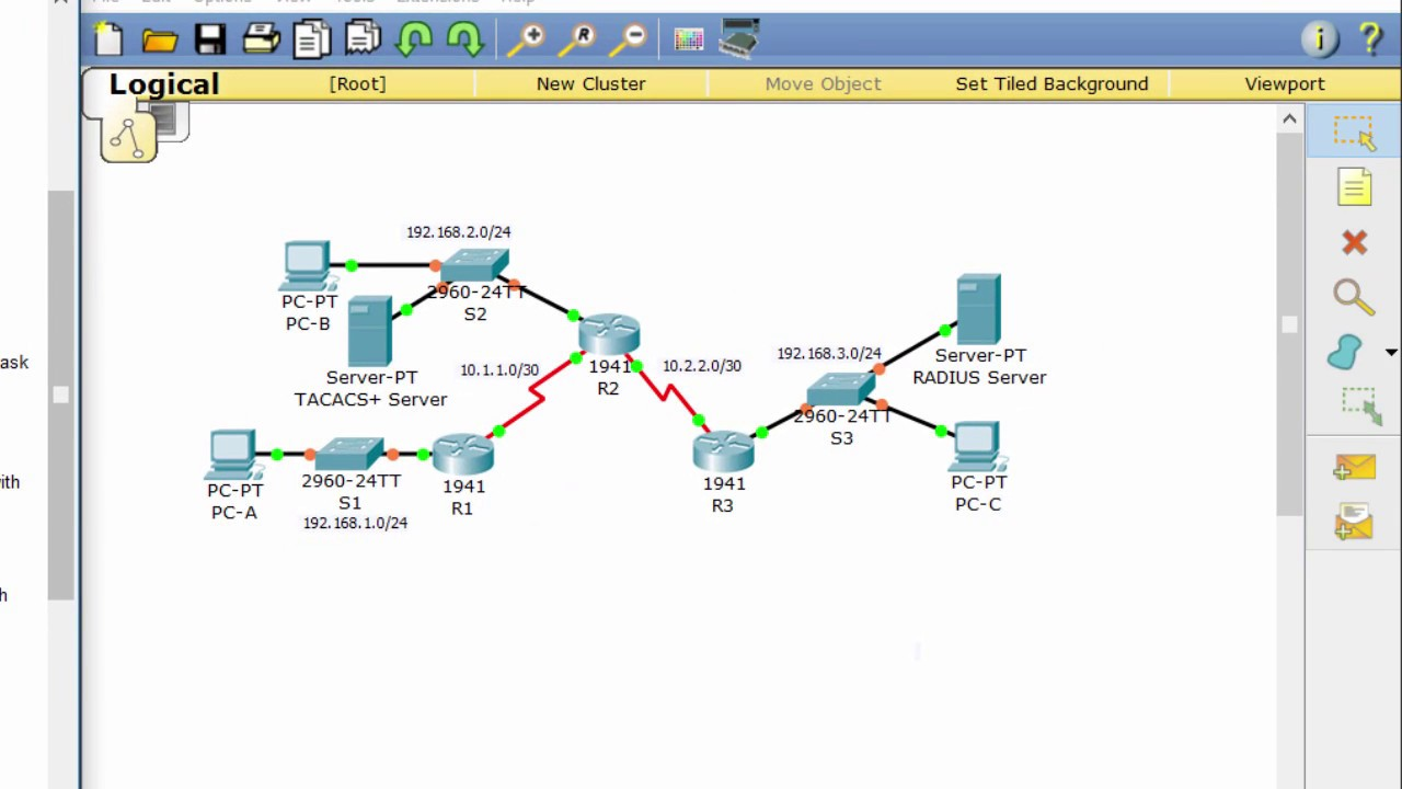 CCNA Security Lab 3 6 1 2: Configure AAA Authentication on Cisco Routers