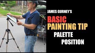 James Gurney's BASIC PAINTING TIP #2: Palette Position